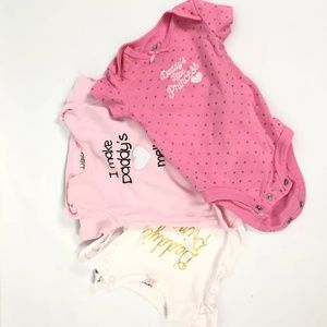 Carter's One Pieces - Lot Of 3 Carters Kidgets Baby Girl One Piece